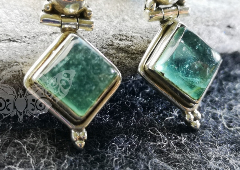 925 Sterling Silver APATITE Earrings #1398