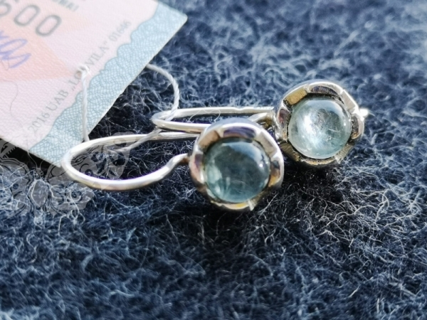 925 Sterling Silver APATITE Earrings #1478