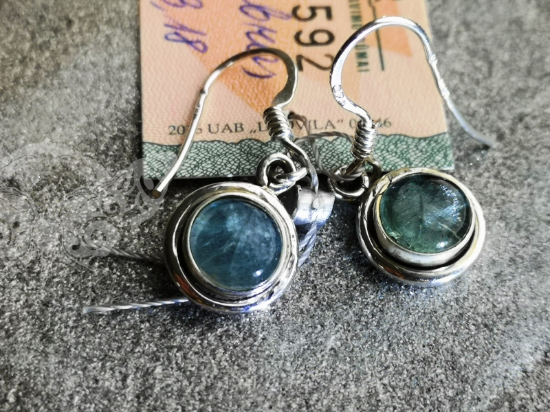 925 Sterling Silver APATITE Earrings #1511