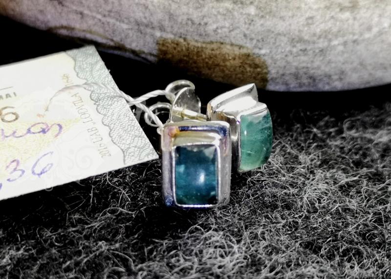 925 Sterling Silver APATITE Earrings #194