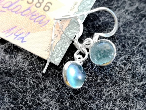 925 Sterling Silver APATITE Earrings #2271.142
