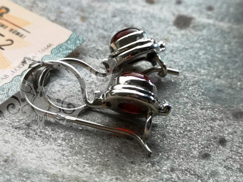 925 Sterling Silver CARNELIAN Earrings #2487