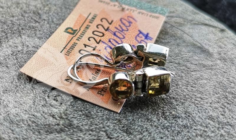 925 Sterling Silver CITRINE Earrings #2506