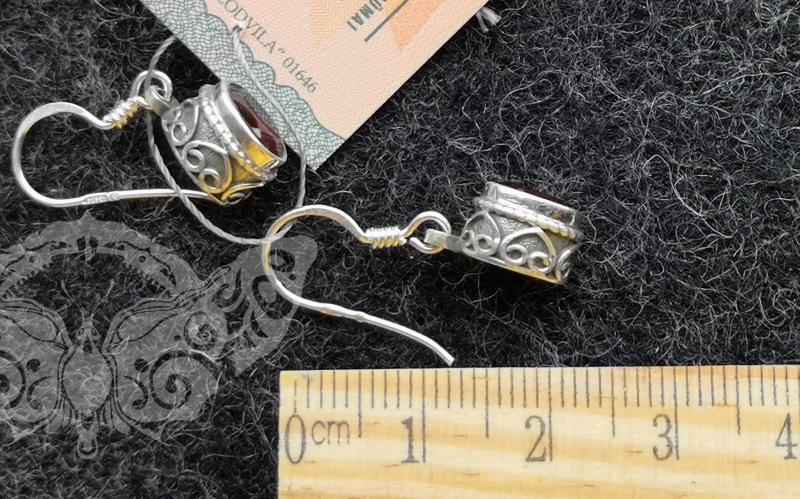 925 sidabro auskarai su GRANATU #4263.376