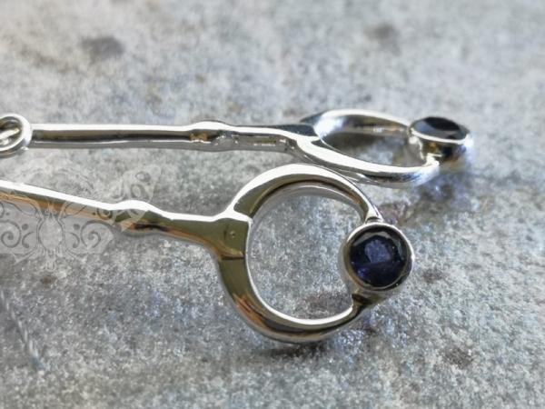 925 Sterling Silver IOLITE Earrings #601