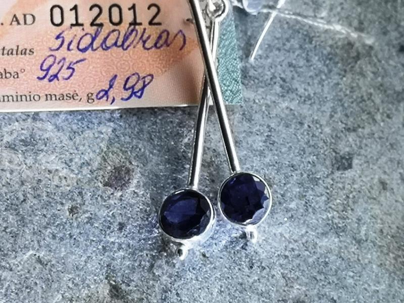 925 sidabro auskarai su JOLITU #1699