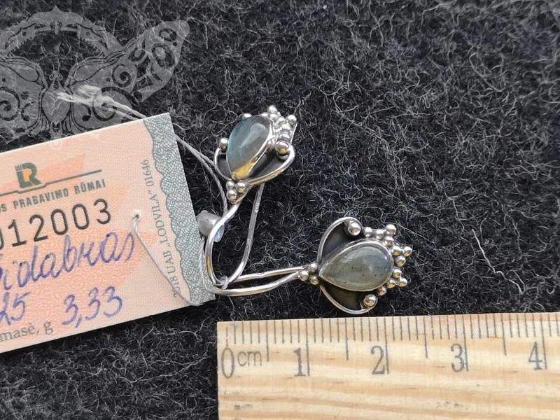 925 sidabro auskarai su LABRADORITU #4286