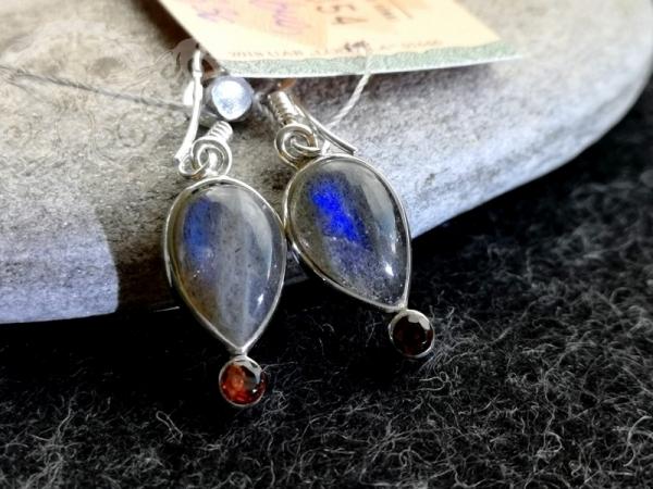 925 Sterling Silver MULTISTONE Earrings #66