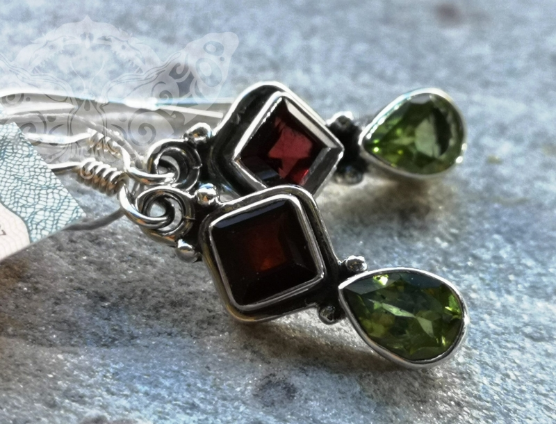 925 Sterling Silver MULTISTONE Earrings #550