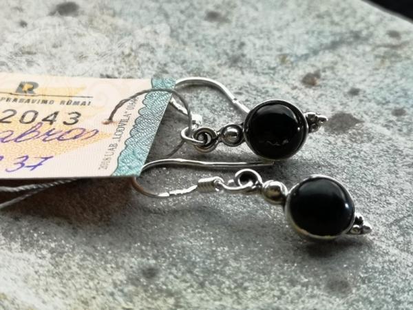 925 Sterling Silver BLACK ONYX Earrings #2649
