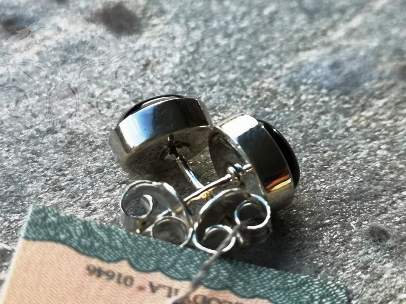 925 Sterling Silver BLACK ONYX Earrings #2734