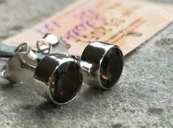 925 sidabro auskarai su DŪMINIU KVARCU #2459