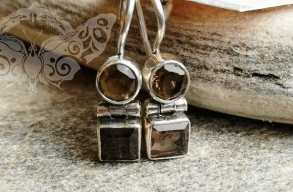 925 sidabro auskarai su DŪMINIU KVARCU #2509