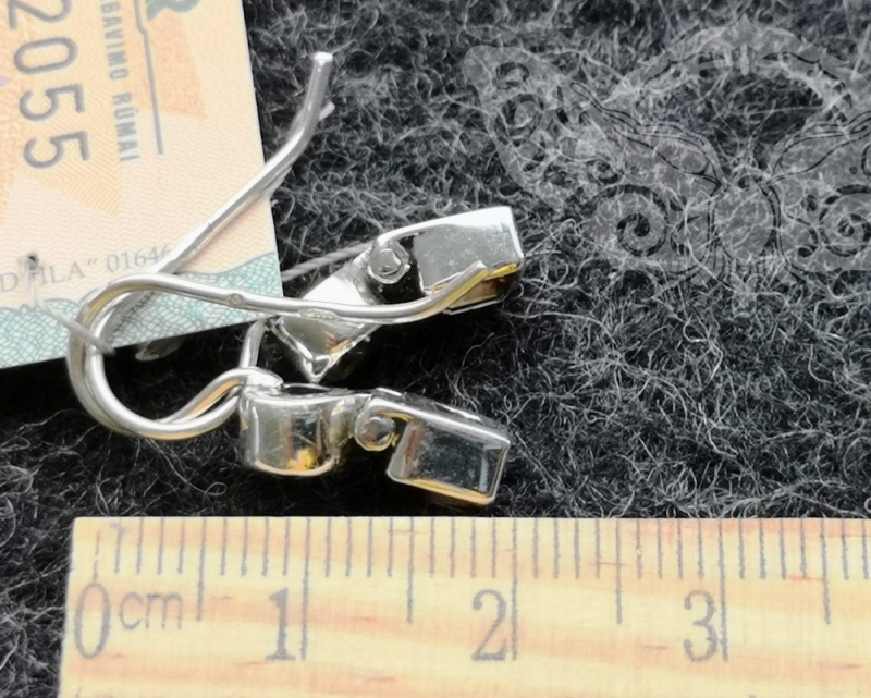 925 Sterling Silver SMOKY QUARTZ Earrings #2509