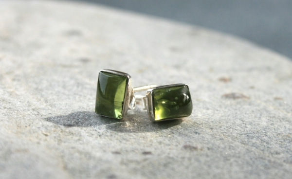 925 Sterling Silver PERIDOT Earrings #1735