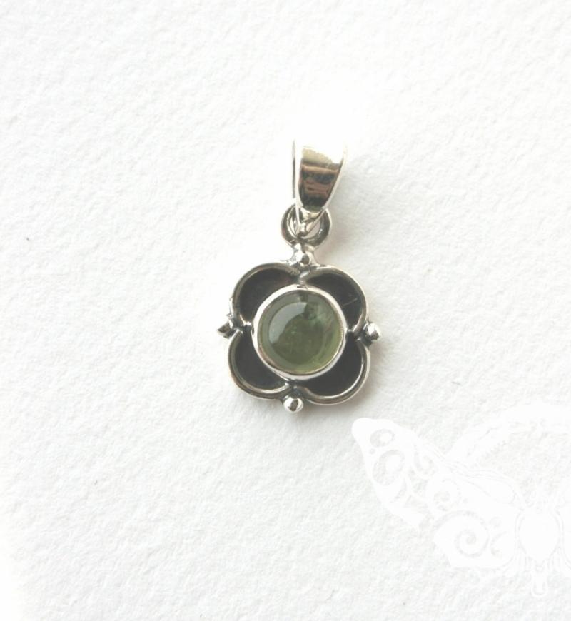 925 Sterling Silver PERIDOT Pendant #3013