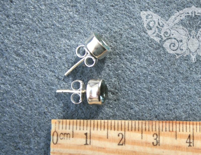 925 Sterling Silver BLUE TOPAZ Earrings #2462