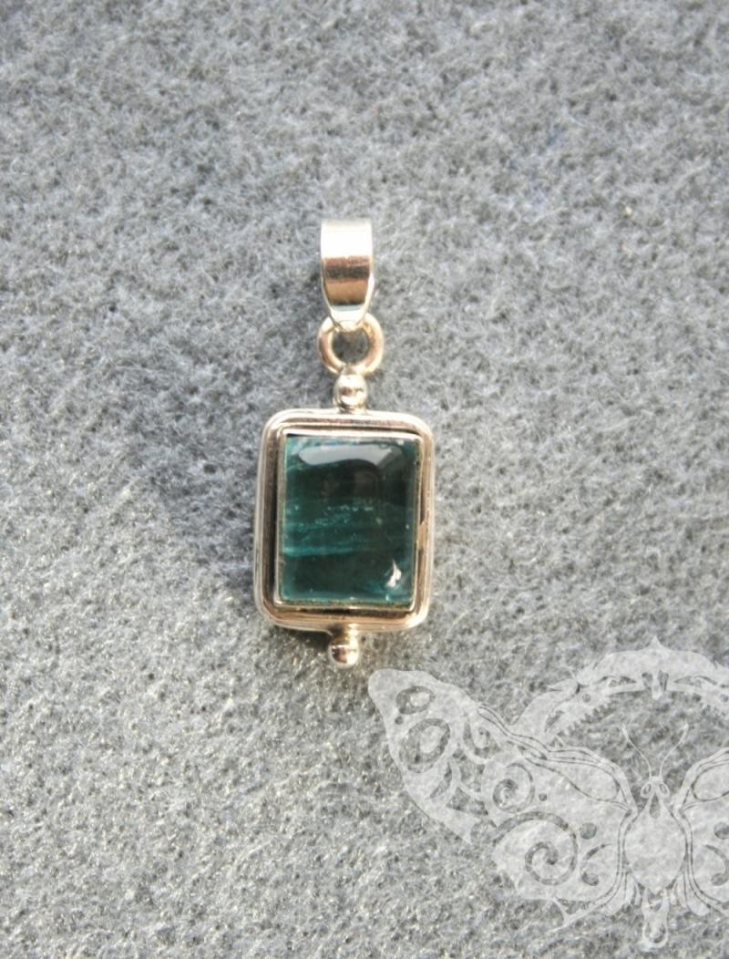 925 Sterling Silver APATITE Pendant #3804