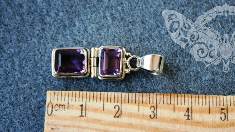 925 Sterling Silver AMETHYST Pendant #3517