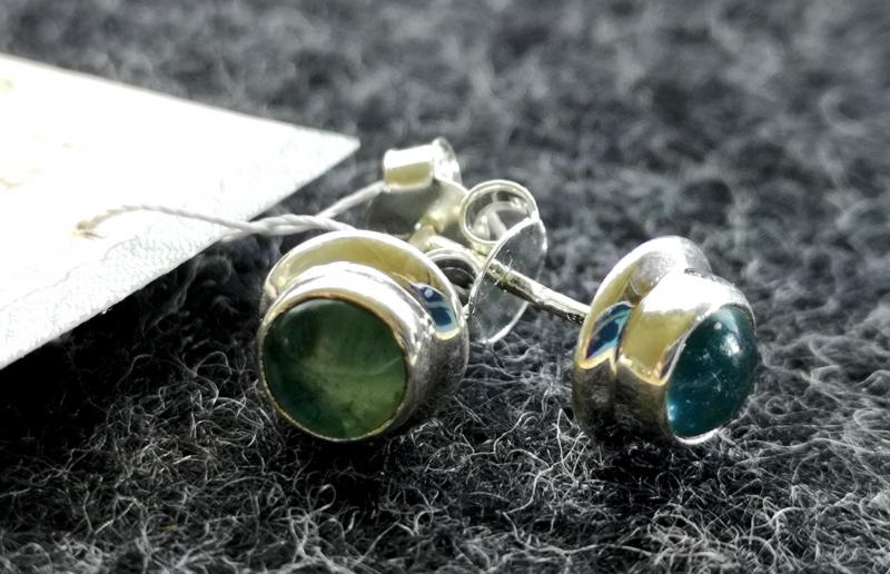 925 Sterling Silver APATITE Earrings #2549.288