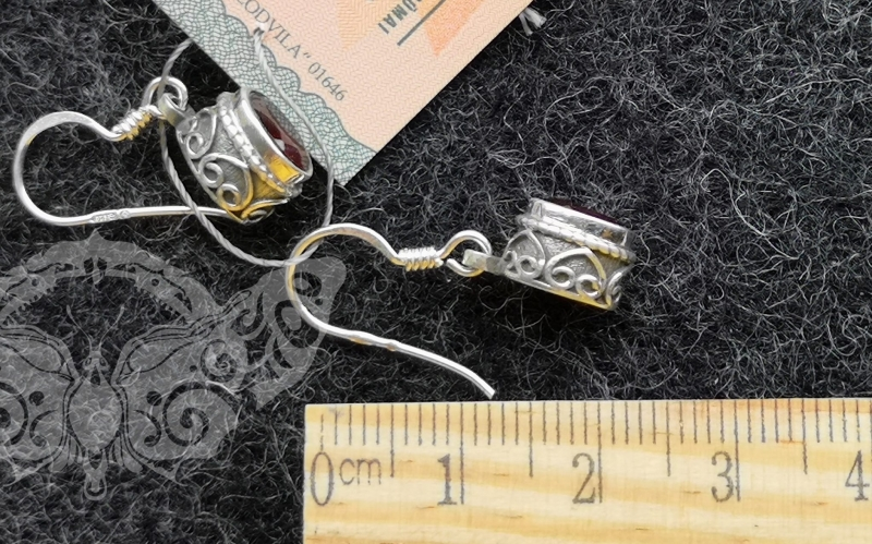 925 sidabro auskarai su GRANATU #4263.368