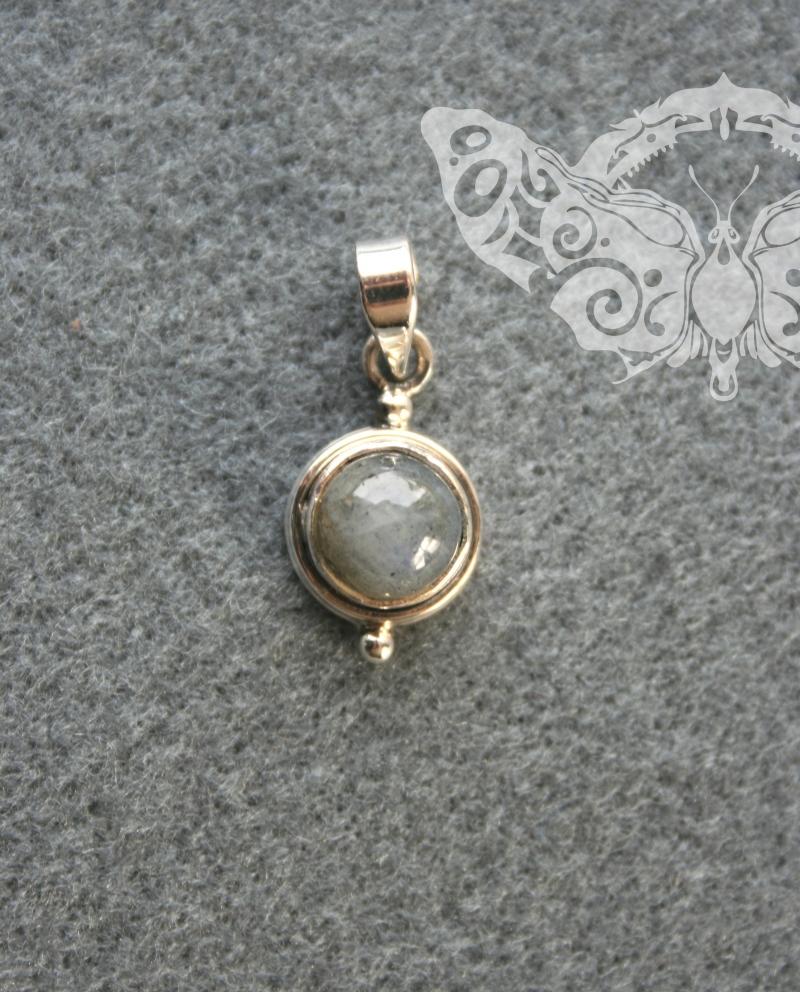 925 Sterling Silver LABRADORITE Pendant # 3739