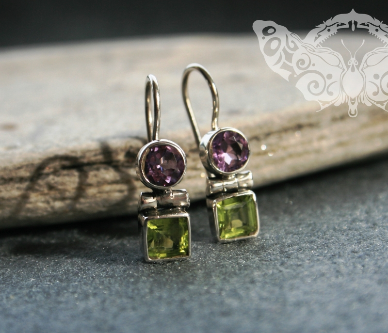 925 Sterling Silver MULTISTONE Earrings #2510