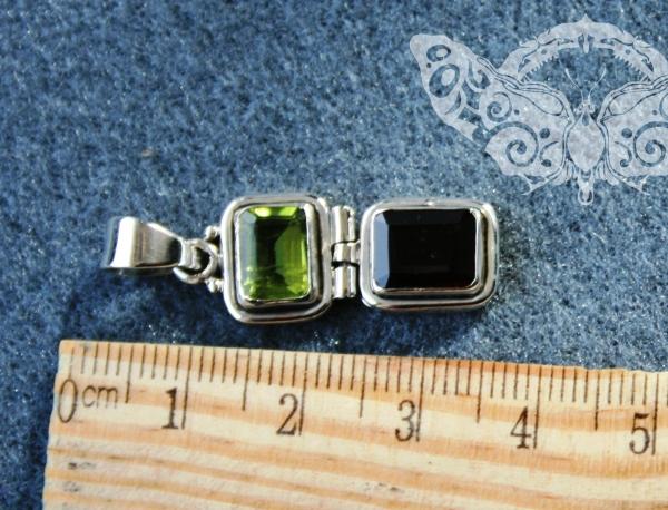 925 Sterling Silver MULTISTONES Pendant #3520