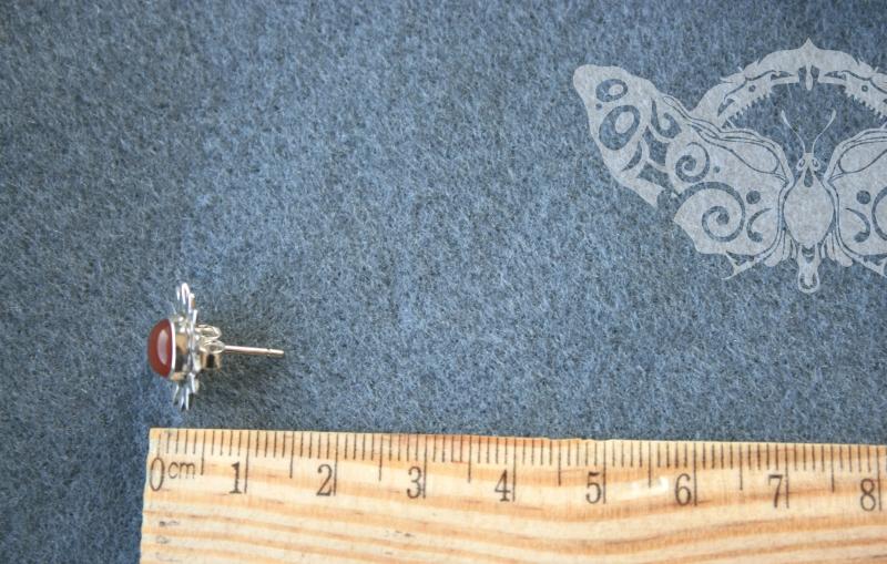 925 sidabro auskarai su KARNEOLIU #1770
