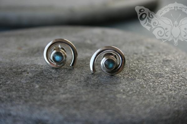 925 Sterling Silver LABRADORITE Earrings #1621