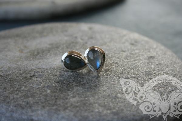 925 Sterling Silver LABRADORITE Earrings #1752
