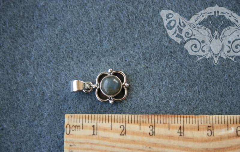 925 Sterling Silver LABRADORITE Pendant #3012