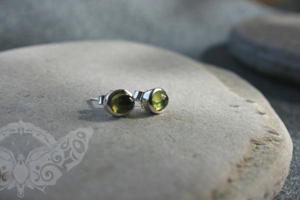 925 Sterling Silver PERIDOT Earrings #2744